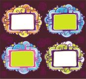 svalna vektorn för seten för designramar den retro Royaltyfria Bilder