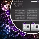 svalna websiten för designplasmamallen Arkivbilder