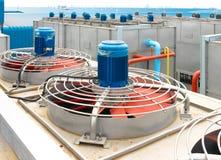 svalnande evakuera ventilatorventilation för elkraft Royaltyfri Fotografi