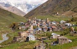 Svan-Dorf Ushguli stockfoto