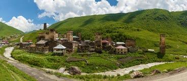 Svan-Todesfeen im Dorf von Ushguli Stockfotos