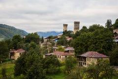 Svan watchtowers i Georgia Fotografering för Bildbyråer