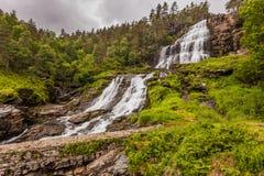 Svandalsfossen w Norwegia, Ryfylke trasa obrazy stock