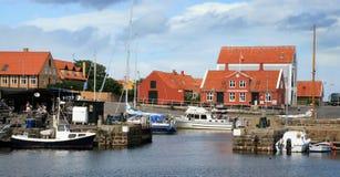 Svaneke Bornholm, Danmark Arkivfoton
