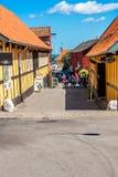 Svaneke-Stadt Stockfotografie