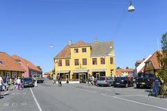Svaneke sur l'île de Bornholm Photos stock