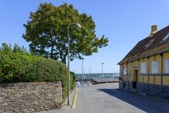 Svaneke sur l'île de Bornholm Photo stock