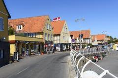 Svaneke sur l'île de Bornholm photos libres de droits