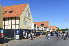 Svaneke sur l'île de Bornholm Photographie stock libre de droits
