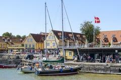 Svaneke sur l'île de Bornholm Image stock
