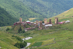 Svaneti,佐治亚 免版税库存照片