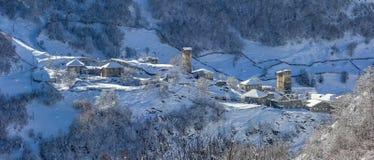 Svaneti-Dorf Stockfotografie
