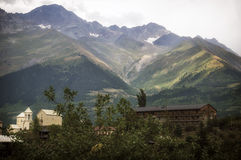 Svaneti Region Georgia. Mestia View royalty free stock photography