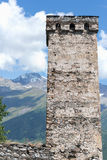 Svaneti tower - Mestia, Georgia. Svanetian ancient tower in Mestia, Georgia Stock Image