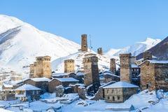 Svaneti towers in Ushguli Royalty Free Stock Image