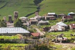 Svaneti village in Georgia Stock Image