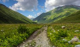 Svaneti walk Royalty Free Stock Photos