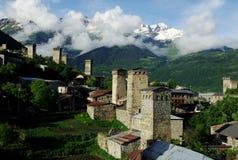 Svaneti wioska Obrazy Royalty Free