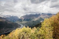 Svanetia in de herfst Stock Foto's