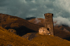 Svanetian towers Royalty Free Stock Photography