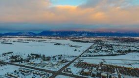 Svanområde i Kalispell, Montana Arkivbilder