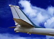 Svans-nivå av det militära flygplanet Royaltyfri Fotografi