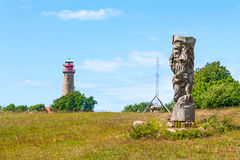 Svantovit, slav rzeźba przy Kapa Arkona, Ruegen Fotografia Stock