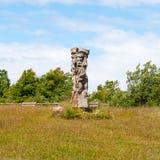 Svantovit, slav sculpture at Kap Arkona, Ruegen Stock Images