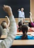 Svar för professor Picking Student For arkivfoton