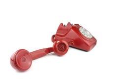 svarande danad gammal röd telefon Arkivfoton