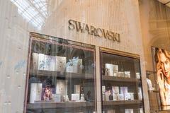 Svarovski-Shop im Stadtzentrum von Mailand, Italien Stockbild