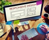Svars- begrepp för mall för Webpage för designorientering Arkivfoton