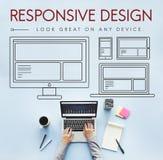 Svars- begrepp för mall för Webpage för designorientering Royaltyfri Fotografi