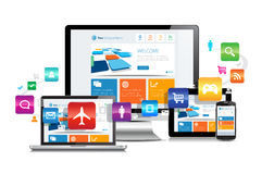 Svars- design Apps royaltyfri illustrationer