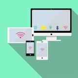 Svars- mobilt nätverk Arkivbilder