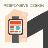 Svars- rengöringsdukdesign Arkivbild