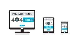 Svars- rengöringsdukdesign, inte-funnen sida för 404 fel royaltyfri illustrationer