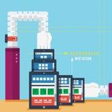 Svars- rengöringsdukdesignbegrepp Arkivfoto