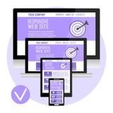 Svars- websitedesign för dator Royaltyfri Bild