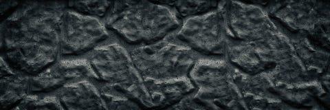 Svart åldrig bred textur för stenvägg Den mörka busen ytbehandlar lång bakgrund fotografering för bildbyråer