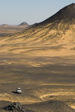 svart öken egypt Arkivbilder