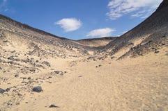 svart öken egypt Arkivbild