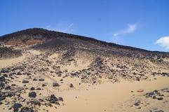 svart öken egypt Royaltyfri Bild