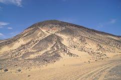 svart öken egypt Arkivfoto