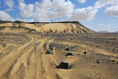 svart öken egypt Royaltyfria Bilder