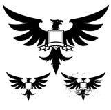 svart örn stock illustrationer