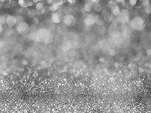 Svart abstrakt begrepp blänker bakgrund med bokeh tänder oskarpa mjuka grå färger för den romanska bakgrunden, ljus backgr för bo royaltyfri bild