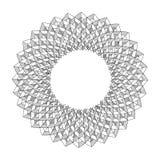 Svart abstrakt fractalform Royaltyfri Fotografi