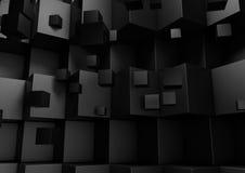 Svart abstrakt geometrisk låg Poly bakgrund Arkivfoto