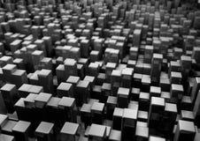 Svart abstrakt geometrisk låg Poly bakgrund för affären Presen Royaltyfria Foton